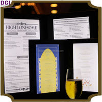Promotional special price light club preferred illuminated LED menu covers (Patent 2014-2-0239452.0)/ menu holder