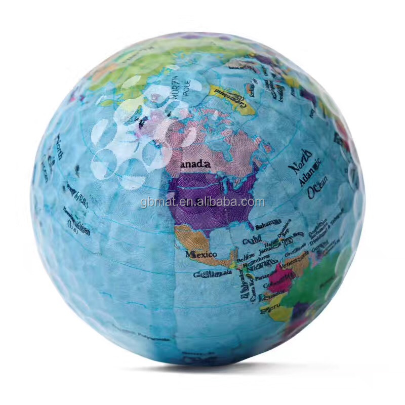 World Earth Globe Map Shaped Golf Ball Souvenirs