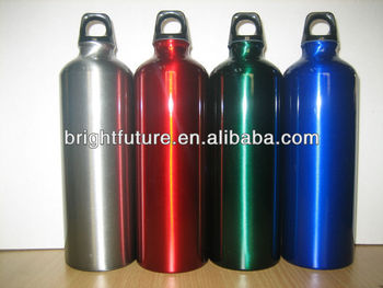 colorful aluminium sport water bottle