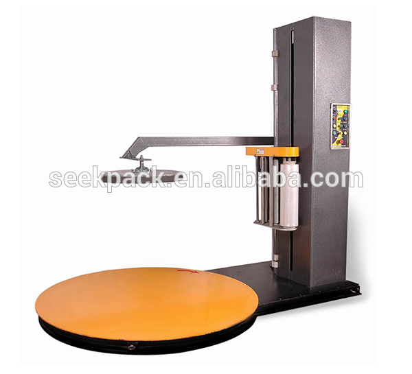Factory Offer Turntable Stretch film pallet wrapping machine / vertical