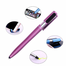 SQ hot sale 5 in 1 highlighter phone stander multifunction stylus touch pen with custom logo