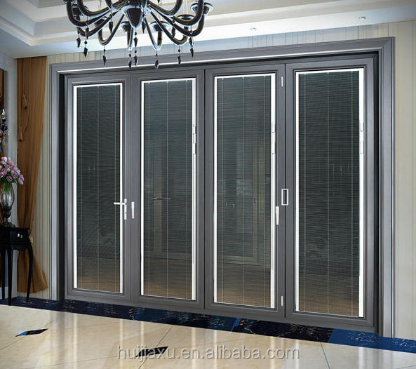 Mosquito Net Doors Folding Frameless Folding Glass Doors With Blinds