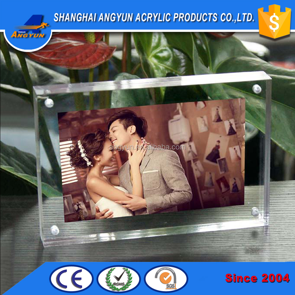acrylic happy birthday photo picture frame for lovers