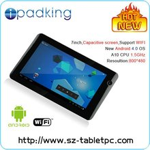 Android 4.0 wifi capacitive touch screen 7inch tablet PC