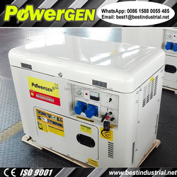 With Remote Starter and Cooling Fan!!! POWERGEN 50Hz/60Hz Single Phase Silent Diesel Generator 6KW