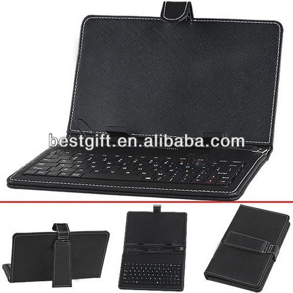 Top quality keyboard leather sleeve for tablet pc cases with keyboard
