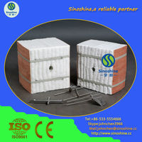 Favorites Compare Thermal Insulation Ceramic Fiber Module with SS anchor Fixing