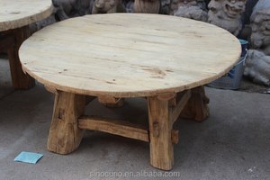 Recycle solid wood antique round dining table