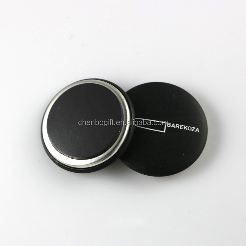 custom made design round shape metal tin fridge magnet, magnetic button badge