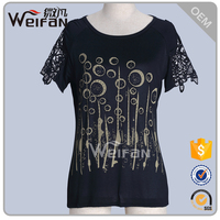 Young Women Words Printed Trendy Tee Shirt Womens Tshirts OEM