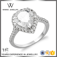 Fashion Diamond Cut Heart Ring Jewelry Lady Love Ring for Wedding RC0821382557