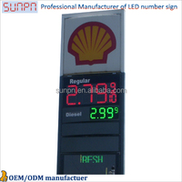 USA Regular Led Gas Price Sign /USA Diesel Gas Station Screen/ Led Outdoor Gas Price Sign Board
