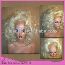 crazy blonde color lace front synthetic wig