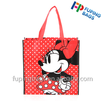 Fancy cartoon custom laminated on non woven shopping tote bag for promotion