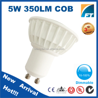 CE RoHS Wholesale cob led spotlighting,dimmable led spot light gu10 plastic aluminum heatsink