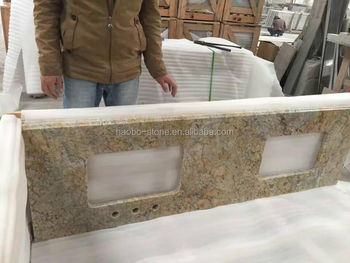 Hot Sale Prefab Granite Kitchen Countertops with Laminated Bullnose