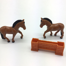 Small Animal Set Toys Plastic Animals Toy Horse Figure With Fence