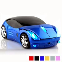 Bright Colors Funny Car Shape Personalized Wireless Mouse