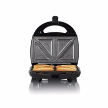 T27008 3-in-1 Sandwich Maker with Interchangeable Grill Plates and Non Stick Ceramic Coating, 750 Watt, Black