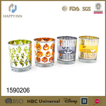 Electroplated glass wine mini cup color glass mug shot glass for promotion
