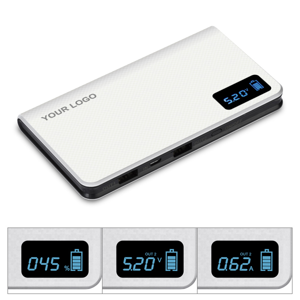 2017 new function LCD display power bank 10000mah powerseed factory price