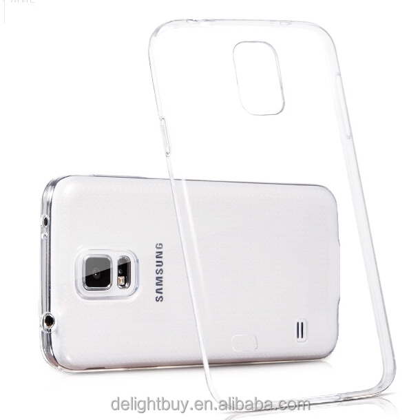 For samsung galaxy s5 i9600 cover ultra thin and flexible TPU PC Transparent back cover for s6 edge plus s4