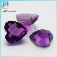 Jewelry gemstone heart shape natural amethyst