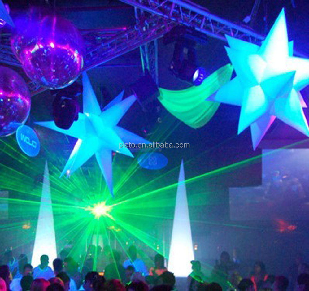 Stage/Club/Party decoration led inflatable lighting decoration,3d light sar,inflatabe star