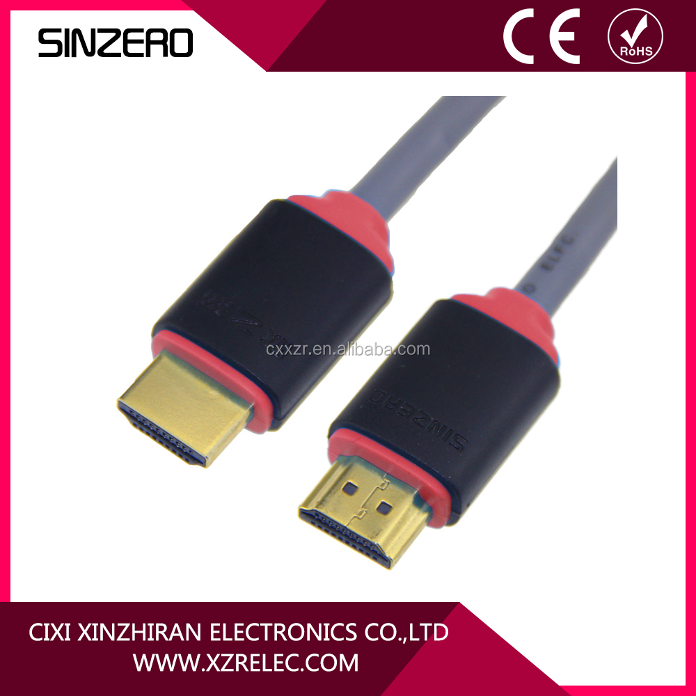 Gold plated display port reliable high speed hdmi cable with ethernet