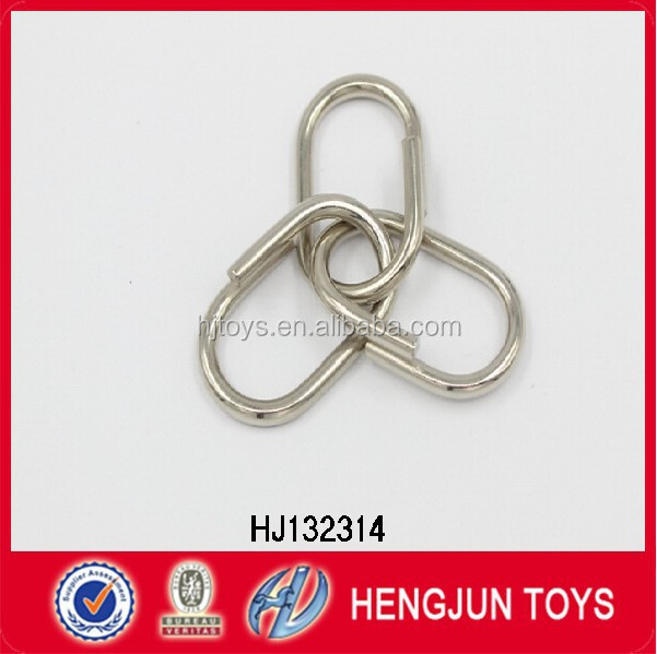 7P promotion metal clasp kids educational toy