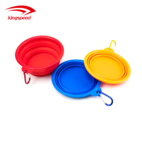 Premium custom logo dog food water feeding silicone portable travel bowl