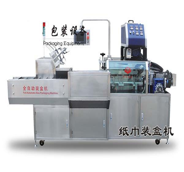 Automatic packing machine for facial tissue