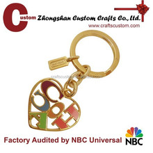 Wholesale cheap bulks Sweet heart souvenir metal keychain for sales