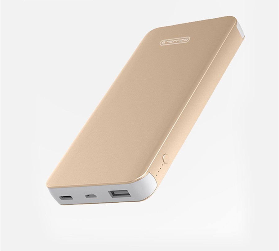 wholesale 5V 2.4A gold powerbank 10000 mah <strong>portable</strong>