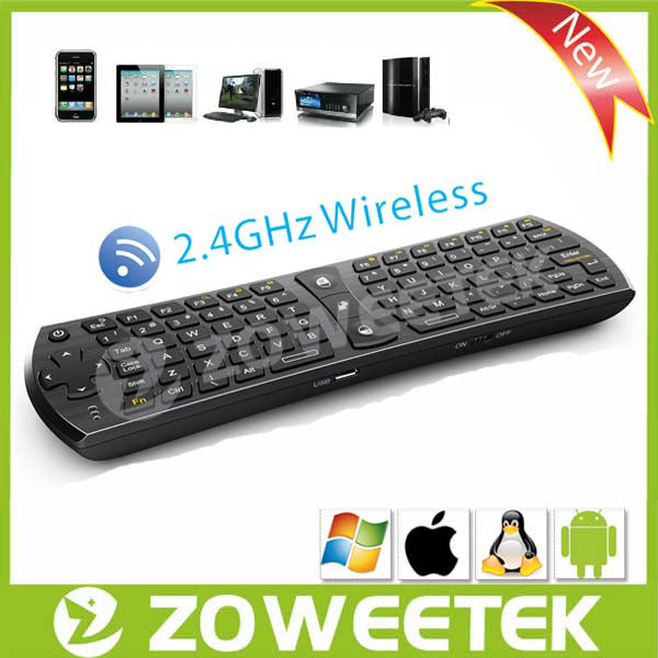 2.4G Mini I8 PC Pad Google Andriod TV Box Wireless Keyboard with mouse pad