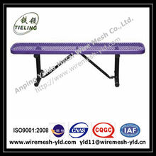 comfortable purple color PVC coated expanded metal garden bench/chairs