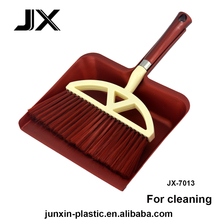 square plastic broom dustpan with brush for household kitchen cleaning