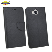 Phones protective folio pu leather cases for huawei y6 2017