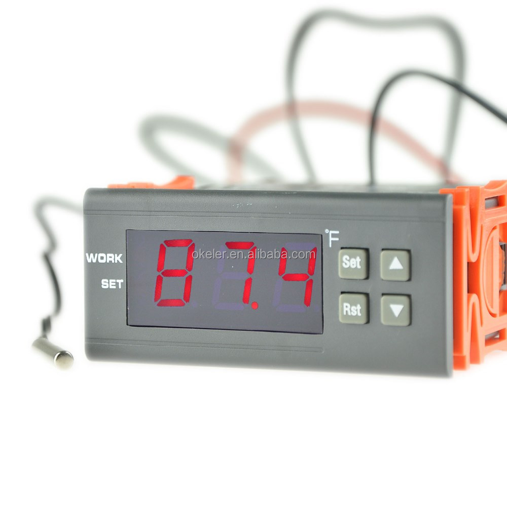 High Quality 12V DC Rated 5A NTC (10K/3435) Digital Electronic Temperature Controller With Timer for Industrial Automation