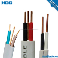 pvc flat electric copper cable coated copper wire
