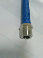 CE steel gas stretch PIPE with white jacket coating