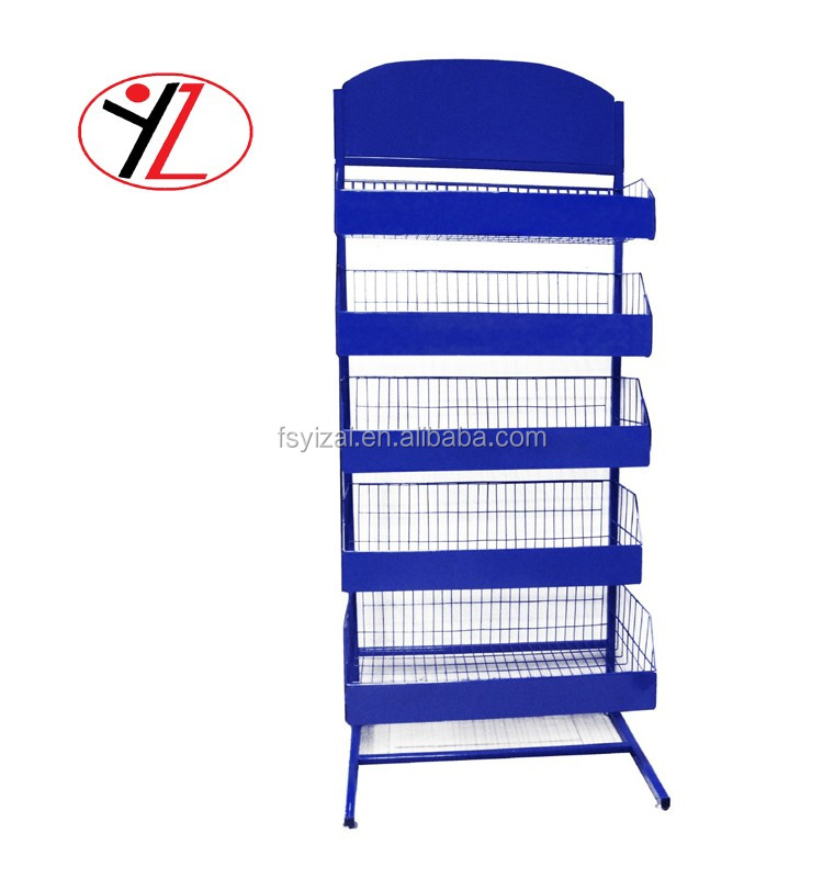 China supplier customizable metal beverage / beer / soft drink display rack for point of sale