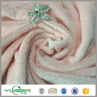 100% Polyester Super Soft Velboa Fabric For Baby Blanket