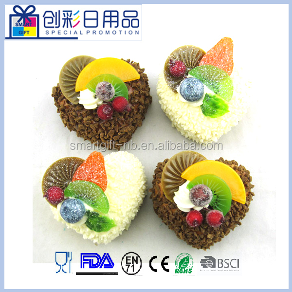 hotsell min heart shape artificial fake wedding cake with fruit