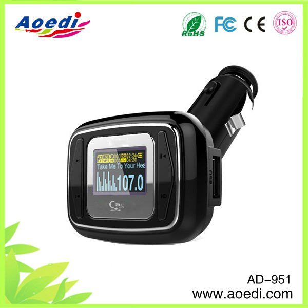 Hoting selling!!car mp3 mp4 fm modulator,fm mp3 decoder board,watch mp3 player asf fm of AD-951