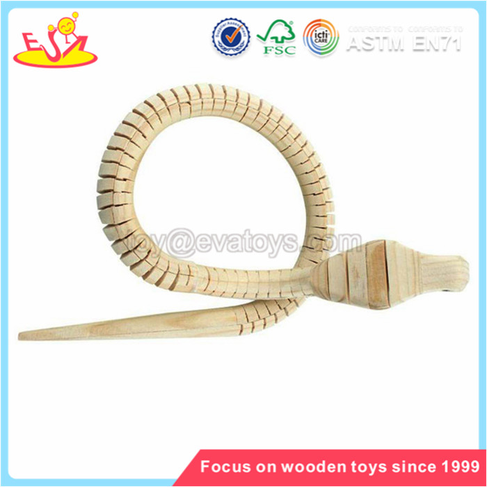 Wholesale best choice educational snake shaped wooden animal toy for toddler W03A031
