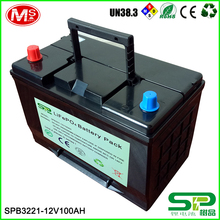 environmental protective 12v 100ah lithium lifepo4 battery replace lead acid battery in market