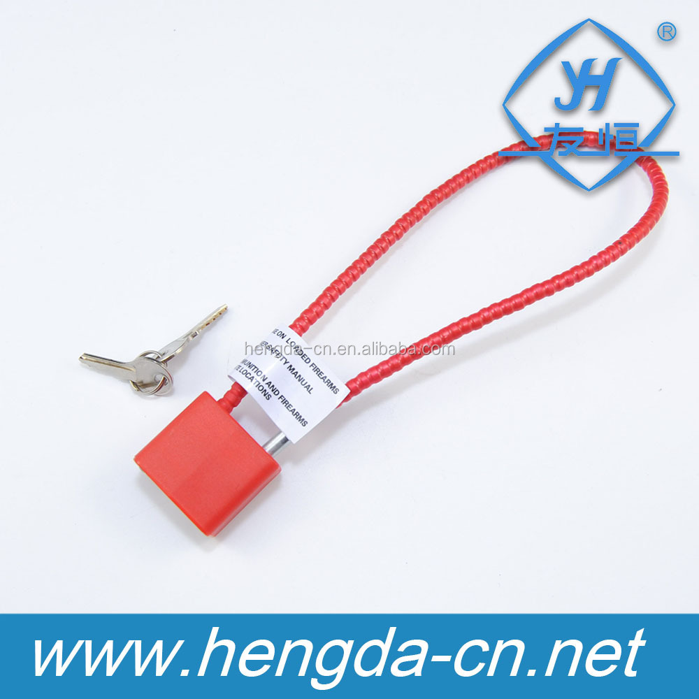 YH1650 Security retractable cable wire gun lock trigger key lock