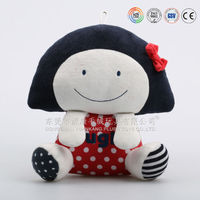 Custom plush cartoon Japanese girl toy doll for baby