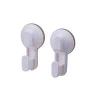 Multiple purpose plastic hook with suction cup